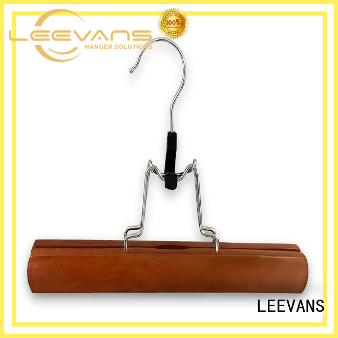 adult custom wooden hangers extension for trouser LEEVANS