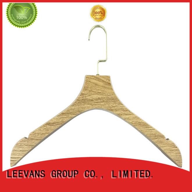 LEEVANS online decorative wooden hangers manufacturer for pants