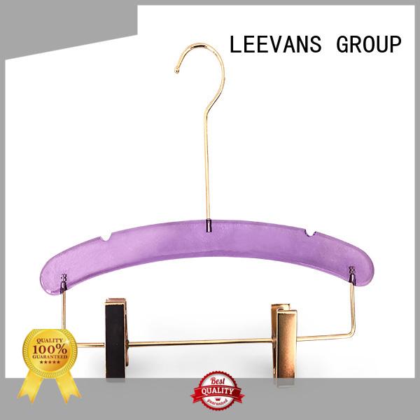 LEEVANS Wholesale black coat hangers factory for suits