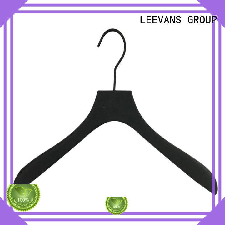 wooden dress hangers clamp for kids LEEVANS