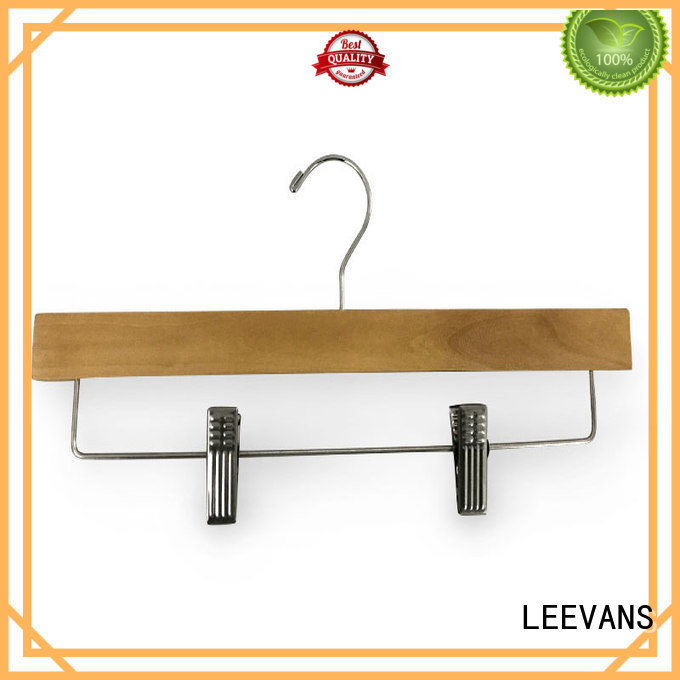 LEEVANS fashion childrens white wooden coat hangers Supply for skirt