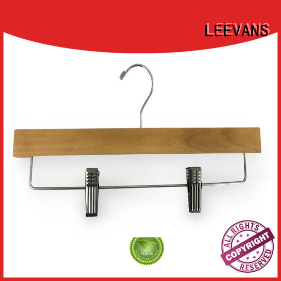 ash wooden pants hangers supplier for kids LEEVANS