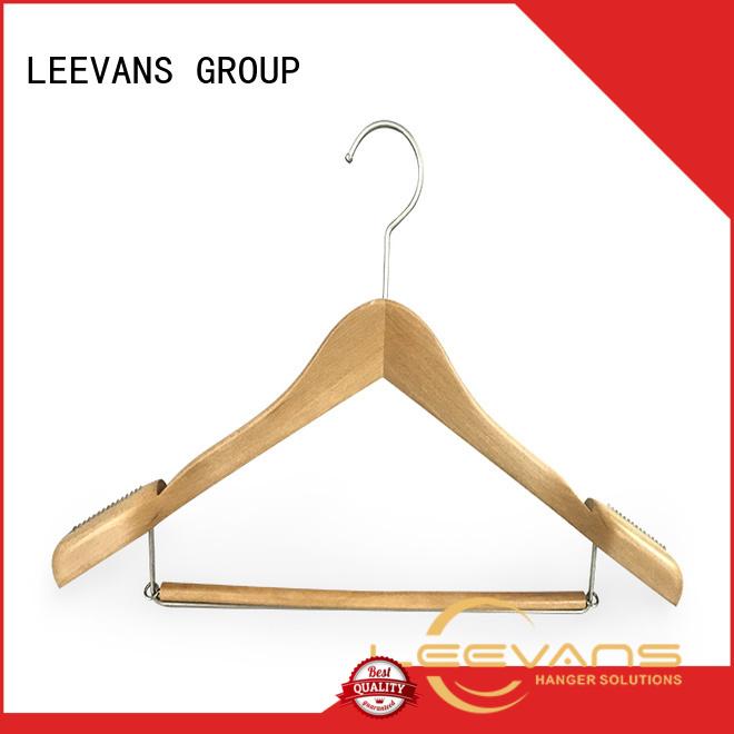 LEEVANS quality black wooden coat hangers company for pants