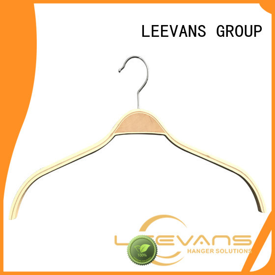 LEEVANS Latest white wooden clothes hangers factory for trouser