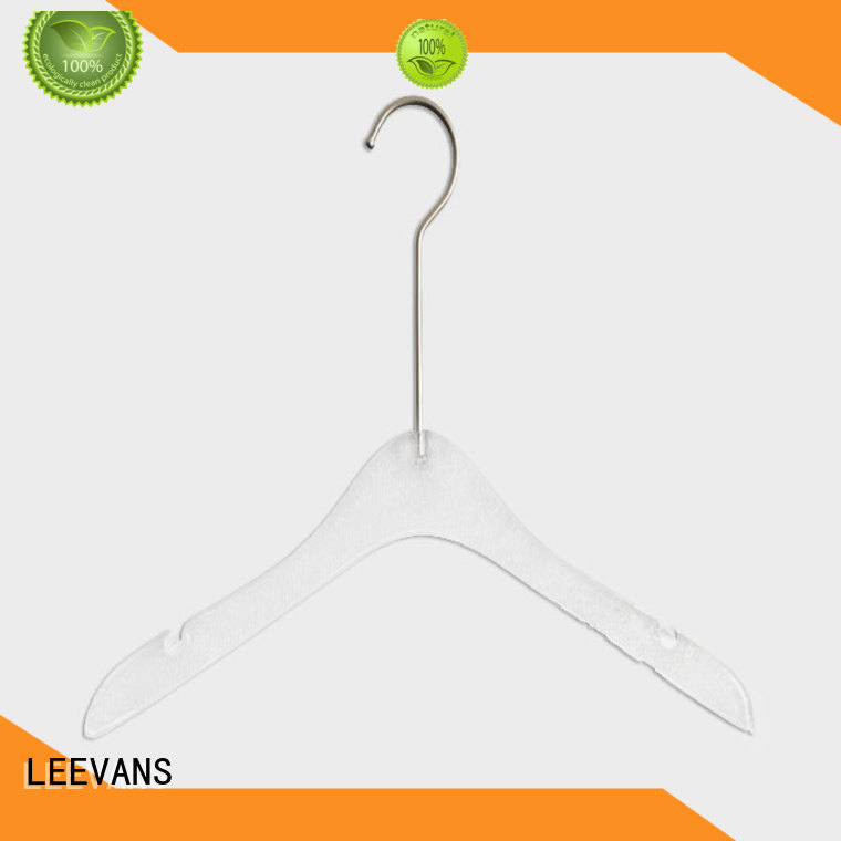 LEEVANS oem clear clothes hangers manufacturers for suits