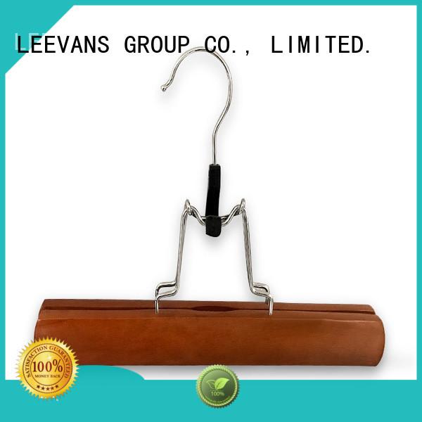 LEEVANS adult wooden hangers wholesale Supply for skirt