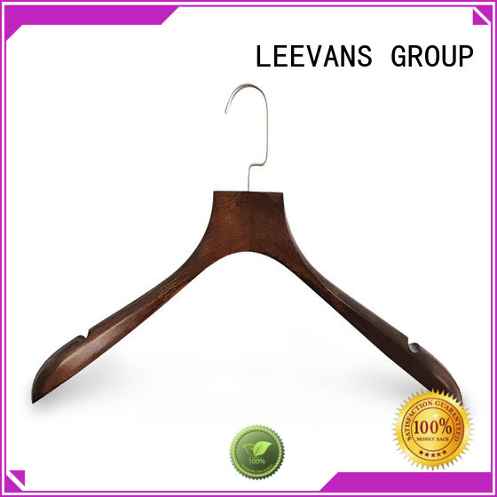 LEEVANS rubber ladies coat hangers manufacturers for clothes