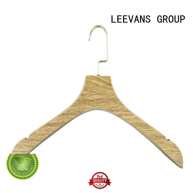 threshold wooden hangers manufacturer for trouser LEEVANS