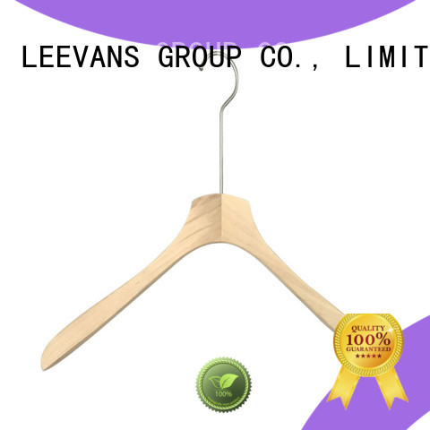 LEEVANS brown solid wood hangers Supply for trouser