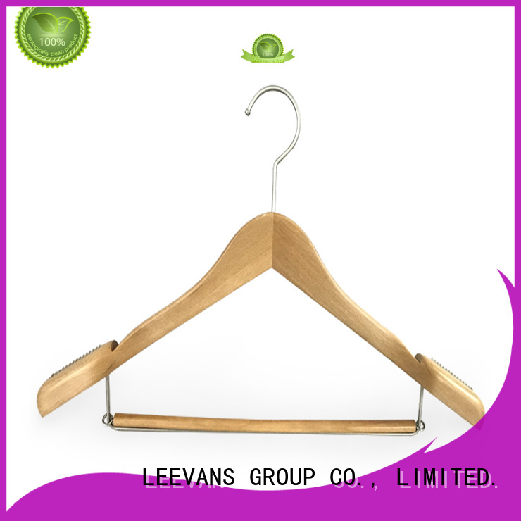 white wooden hangers with clips hangers for children LEEVANS