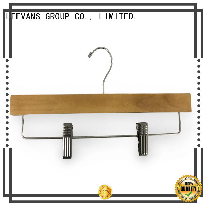 LEEVANS fashion custom wooden hangers wholesale for clothes