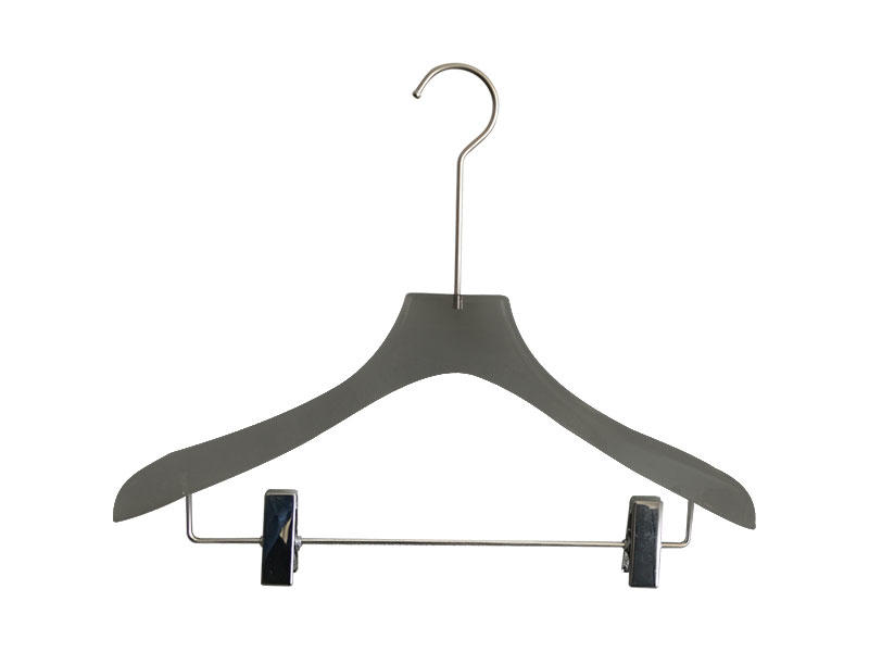 Wholesale custom coat hangers transparent manufacturers for pant-1