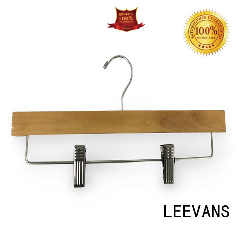 LEEVANS New wooden clip hangers Suppliers for pants