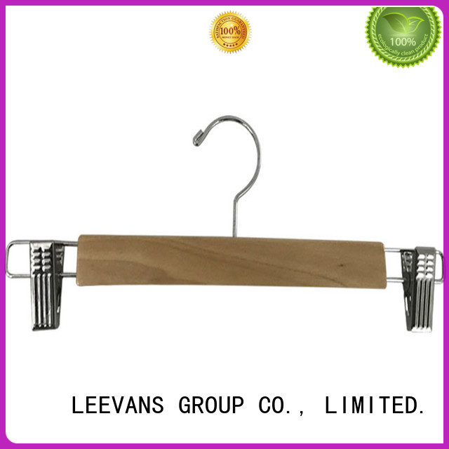 LEEVANS online wooden cloth hanger with metal hook for kids