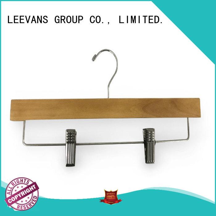Custom white wooden clip hangers hangers factory for skirt