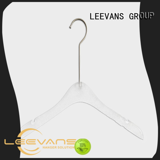 LEEVANS fashion acrylic hanger wholesale for casuals
