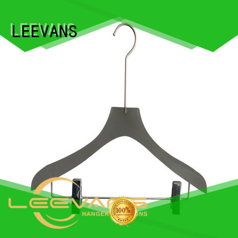 LEEVANS dress acrylic hanger manufacturer with wide shoulder for pant