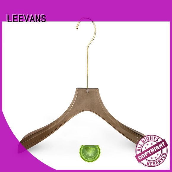 hot sale acrylic hanger manufacturer supplier for jackets LEEVANS