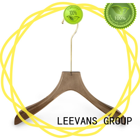 LEEVANS space acrylic coat hangers wholesale for T-shirts