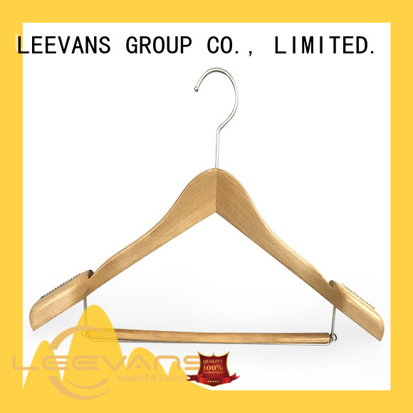 Custom best wooden coat hangers color for business for trouser