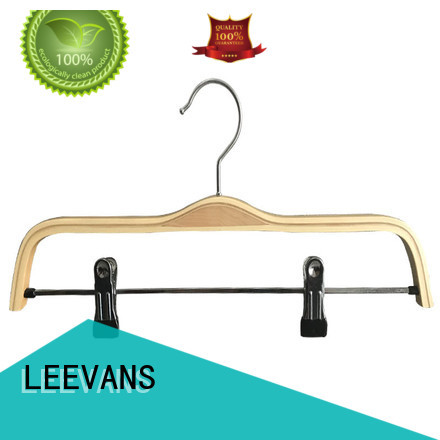 LEEVANS fashion black wooden hangers manufacturer for pants