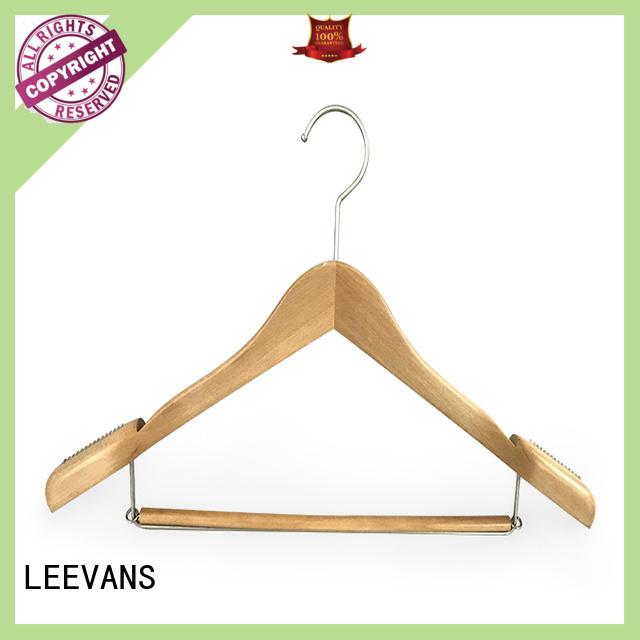 LEEVANS fashion wooden pants hangers manufacturer for clothes