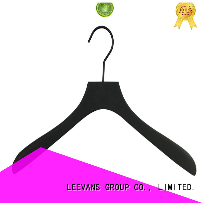 hot sale brown wooden hangers supplier for trouser