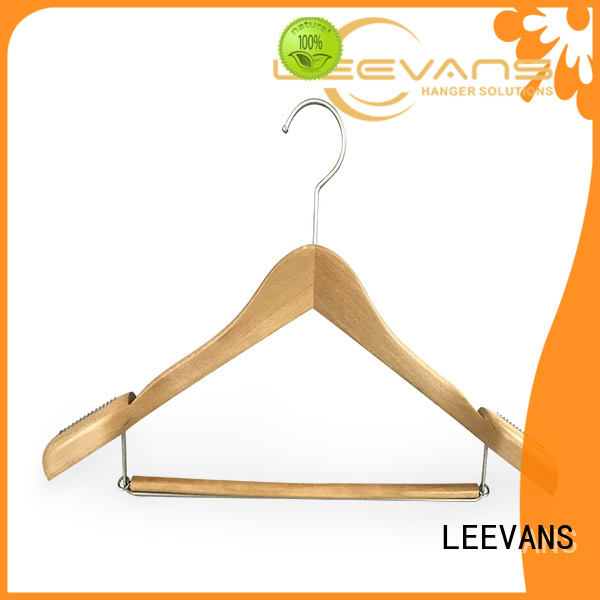 Custom heavy duty wooden coat hangers quality manufacturers for pants