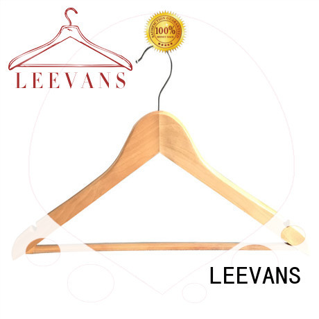 LEEVANS fashion childrens wooden hangers wholesale with metal hook for kids