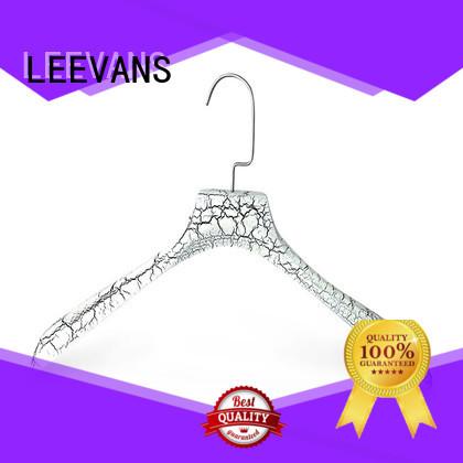 LEEVANS premium thick wooden hangers factory for skirt