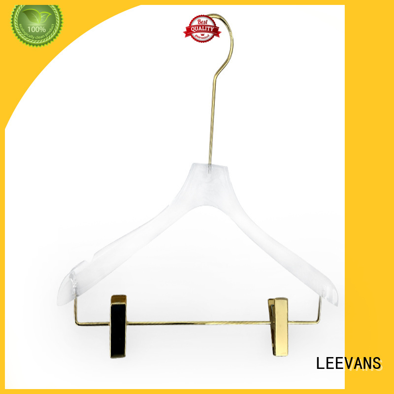 LEEVANS transparent personalized hangers for business for pant
