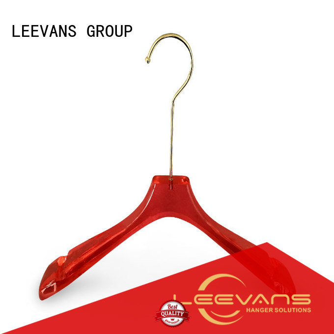 LEEVANS fashion acrylic clothes hangers oem for suits