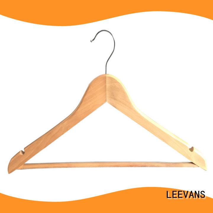 LEEVANS black wooden coat hanger manufacturer for pants
