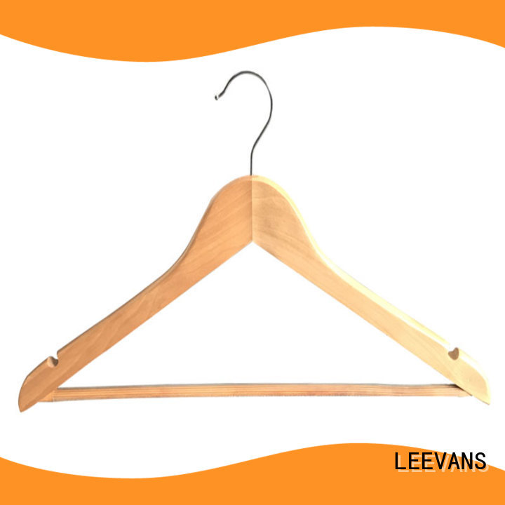 LEEVANS black wooden coat hanger manufacturer for pants