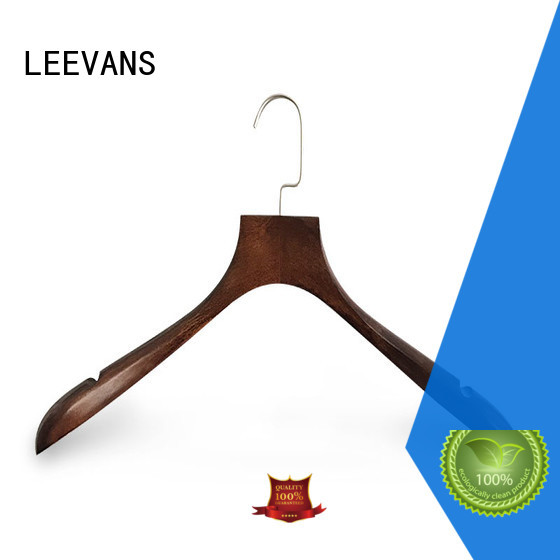 LEEVANS Best dark wood coat hangers manufacturers for pants