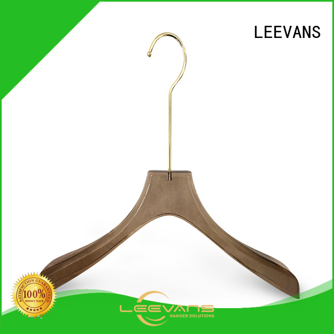 LEEVANS logo heavyweight hangers for business for jackets