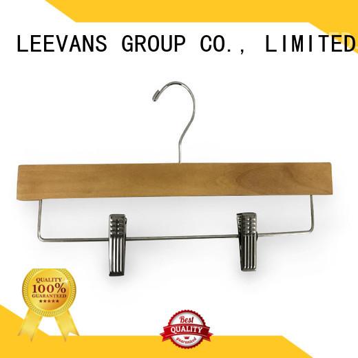 LEEVANS Custom wooden skirt hangers Suppliers for trouser