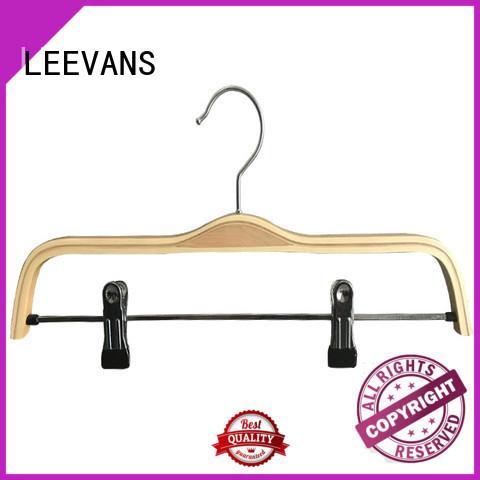LEEVANS wooden hanger wholesale for skirt
