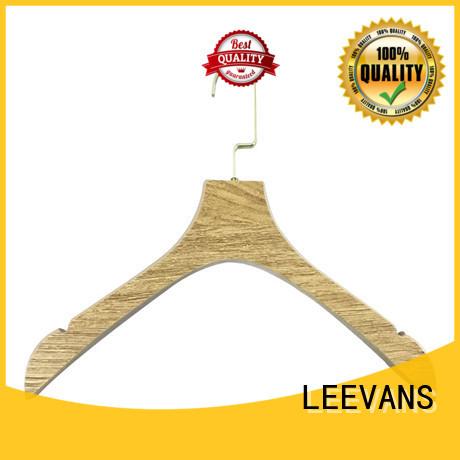 LEEVANS laminate wooden coat hanger wholesale for trouser