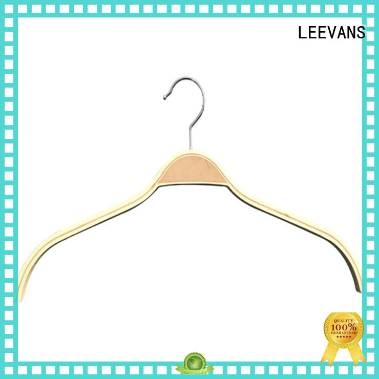 adjustable white wooden hangers wholesale quality for skirt LEEVANS