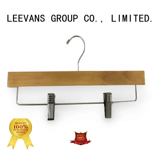 LEEVANS hanger personalized wooden hangers Suppliers for clothes