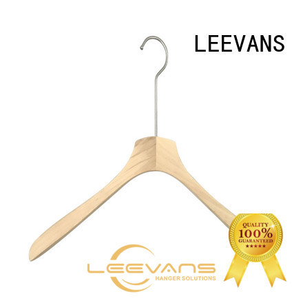 LEEVANS white discount wooden hangers factory for clothes