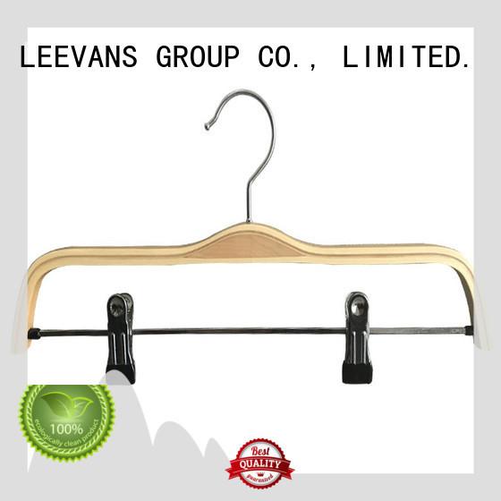 LEEVANS Custom wooden hangers manufacturers for pants