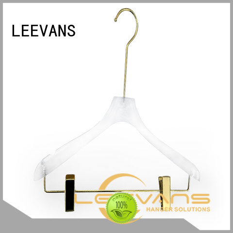 New clear acrylic hangers clips for business for T-shirts