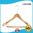 black white wooden hangers with clips sale for clothes LEEVANS