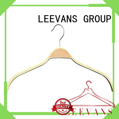 LEEVANS garment wooden cloth hanger supplier for trouser