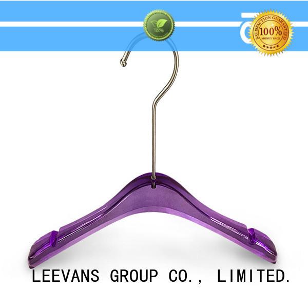 LEEVANS perspex brown hangers factory for jackets