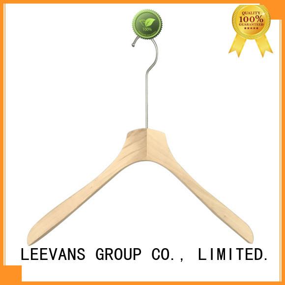LEEVANS Wholesale wooden suit hangers wholesale factory for skirt