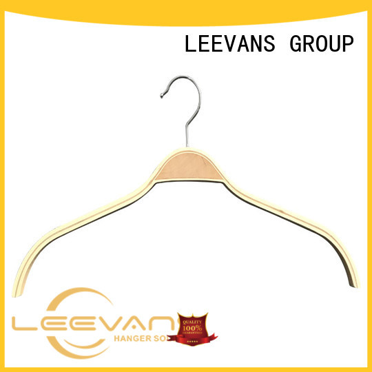 LEEVANS finish best wooden hangers wholesale for trouser