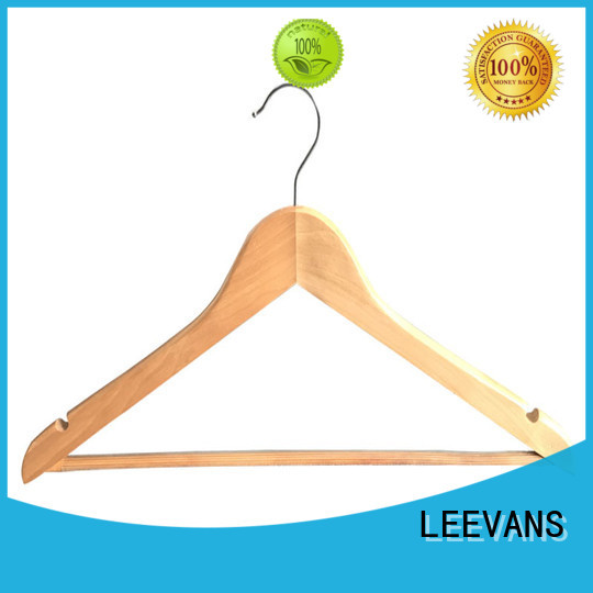 LEEVANS Best white wooden skirt hangers Supply for clothes